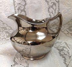 Vintage Silver Luster Pitcher_Sadler by GoldenBeeAntiques on Etsy, $12.00
