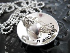 Remembrance Necklace  Personalized Jewelry  Hand by BragAboutIt, $56.00