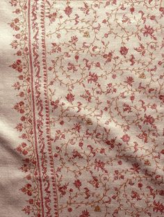 Buy Kashmir Tafta Pashmina Hand Spun Woven Natural Fine All-over Jal Embroidery Shawl by Aditi Online at Jaypore.com