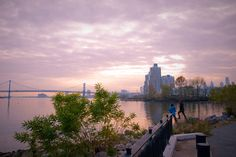 A walk along the Philly waterfront.