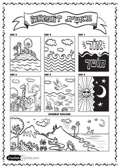 this is an adorable coloring sheet for the week of creation from challahcrumbscom - Creation Coloring Pages Printable