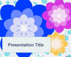 Hippie PowerPoint Template is a free hippie design for PowerPoint presentations that you can download with flowers and white background style