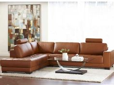 Breckenridge Leather Sectional  120x100 $4595.00 (ordered in a taupe leather)