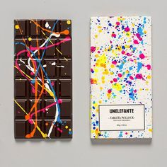 Chocolate bars that look like delicious Jackson Pollock paintings - Lost At E Minor: For creative people Artisan Chocolate, Chocolate Art, Chocolate Gifts, Chocolate Sweets, Chocolate Favors, Chocolate Company, Custom Chocolate, Delicious Chocolate, Jackson Pollock