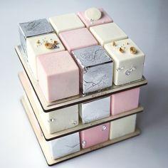 Rubiks Cake # ТортаВкус in 2020 Crazy Cakes, Crazy Wedding Cakes, Fancy Cakes, Mini Cakes, Cupcake Cakes, Pretty Cakes, Cute Cakes, Beautiful Cakes, Amazing Cakes