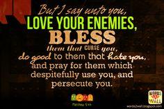 Love your enemies: Free Bible Desktop Verse Wallpaper Bible Quotes About Love, Love Scriptures, Bible Verses Quotes, Biblical Verses, Faith Quotes, Love Your Enemies, Bible Verse Wallpaper, Free Bible, Word Of God