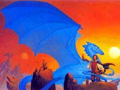 Dragonriders of Pern art work by Michael Whelan