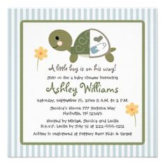 Turtle Baby Shower Theme Ideas | Turtle Baby Shower Invitations — Unique Baby Shower Favors Ideas