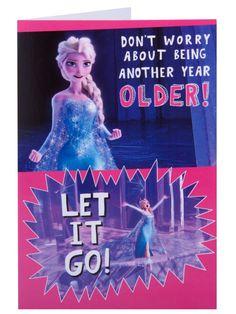 Disney Frozen Elsa Singing Happy Birthday Card -