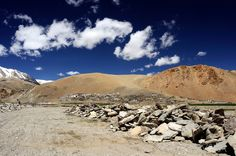 Ladakh, view of Korzok, a village situated at the altitude of over 4600 meters over the sea level at Tso Moriri Lake.  #Leh #Ladakh #India #Travel #photography
