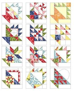12 FREE Basket quilt block patterns by Sandi Walton at Piecemeal Quilts