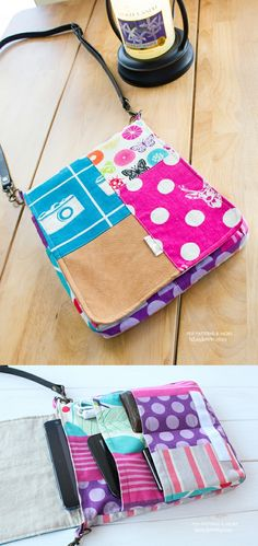 709 Evelyn Tablet Bag PDF Pattern - Love patchwork like this Sewing Basics, Sewing Hacks, Sewing Projects, Basic Sewing, Easy Projects, Sewing Tutorials, Purse Patterns, Sewing Patterns, Sewing Classes For Beginners