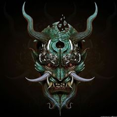 samurai oni mask fresh svein yngve sandvik antonsen cg art of samurai oni mask Samurai Maske Tattoo, Hannya Maske Tattoo, Oni Tattoo, Demon Tattoo, Image Japon, Oni Maske, Japanese Mask Tattoo, Japanese Oni Mask, Japanese Art Samurai