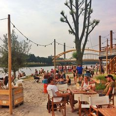 Stadsstrand Utrecht: Beach nearby the centre of Utrecht. A great place to meet people and have a drink with friends Great Places, Beautiful Places, Love Cafe, Amsterdam Netherlands, Meet People, Travel Information, Beach Club, Nice Things, Holland