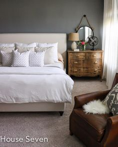 6th Street Design School: Feature Friday: House Seven black wall, dresser for nightstand