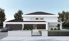 Modern Family House, Modern House Design, New Model House, House Outside Design, Bedroom Bed Design, Modern Architecture House, Architect House, Model Homes, Home Fashion