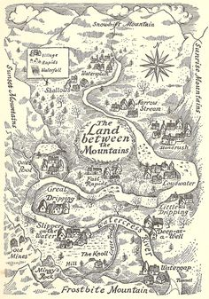 The Land Between The Mountains, from Carol Kendall's The Gammage Cup, illustrated by Erik Blegvad.