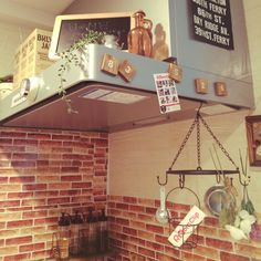 Hirokoさんの、キッチン,セリア,salut!,roomclipステッカー,roomclip ステッカー,いつもいいねをありがとうございます!,cafe風にしたい!,ベストKitchen賞♡,のお部屋写真