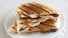 smore paninis on a plate