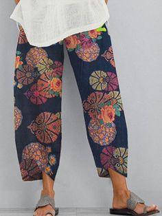 ninacloak.com Cropped Pants, Harem Pants, Loose Pants, Jogger Pants, Pants For Women, Clothes For Women, Vestidos Vintage, Elastic Waist Pants, Casual Pants