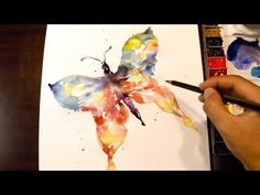 How to Paint a Butterfly : Watercolor Techinique - YouTube