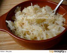 Domácí kysané zelí - salátové Pesto, Potato Salad, Cabbage, Grains, Potatoes, Vegetables, Fruit, Ethnic Recipes, Food