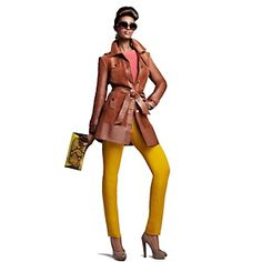 IMAN Platinum Collection: Rich Leather & Suede Trench/Car Coat at HSN.com. #HSN #FallFashion