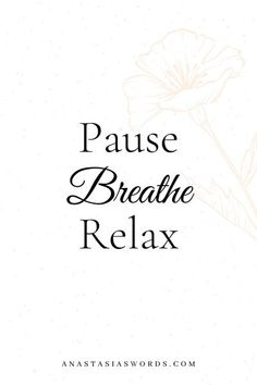 Whenever you're feeling overwhelmed by work, your thoughts, or just life in general, make sure you take a moment to hit pause. To calm your mind and thoughts. Focus on nothing else then your breath and just breathe. Relax your mind and body before you move one with everything. This to me is the simplest form of self-care and mental health care. Positive mindfulness quotes. #mindulnessquotes #peaceful #positivequotes #calmquotes #simplequotes #mentalhealthquotes Mental Health Activities, Mental Health Quotes, Improve Mental Health, Good Mental Health, Calm App, Inner Peace Quotes, Stress Quotes, Confidence Tips, Stress Relief Tips