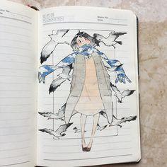 29 ideas beautiful art drawings sketches water colors for 2019 Art Et Illustration, Character Illustration, Illustrations, Art Drawings Sketches, Cute Drawings, Pretty Art, Cute Art, Art Inspo, Bel Art