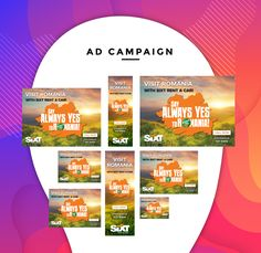 Ad Campaign – Always yes Letterhead Template, Brochure Template, Flyer Template, Visit Romania, Advertising, Ads, Cool Business Cards, Certificate Templates, Backdrops