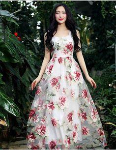 Elegant Floral Organza Dress