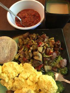 Veggie potato egg skillet, Bonnie made.  September 2016.