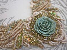 Bronze/Aqua necklace