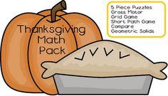Little Adventures Preschool: Thanksgiving Math Pack
