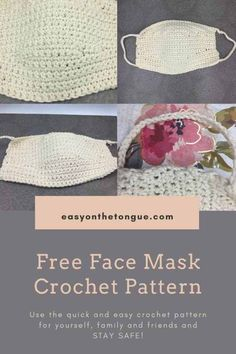 Stay safe is the new buzz word.  And to do that, you also need a face mask.  Use the free face mask crochet pattern in this post (also as pdf) to make your own. #crochetfacemask #freecrochetmaskpattern #maskpattern