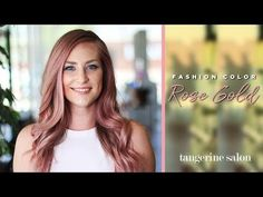 Rose Gold - Fashion Color Hair Tutorial - Aveda Hair Color - YouTube