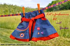 Rock aus Jeanshose / Skirt made from old pair of jeans / Upcycling