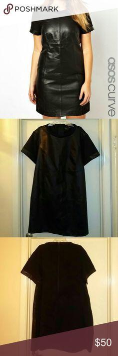 Plain black dress size 22