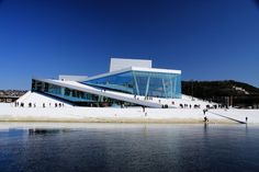** Oslo Opera House, Norway.  Looks like an iceberg.  Rooftop used for outdoor concert venue.  So interesting!