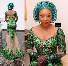 shares the hottest trends in African fashion. Order Aso-ebi lace, ankara, mens accessories & Aso Oke headties exclusively at ova-boutique Lace Dress Styles, African Lace Dresses, African Fashion Dresses, African Blouses, Nigerian Fashion, African Outfits, Ghanaian Fashion, Ankara Fashion, African Beauty