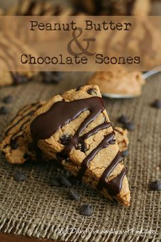 Low Carb Peanut Butter Chocolate Scones: Brian's favorite breakfast