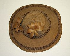 American or European, 1860 to 62, wood straw, silk