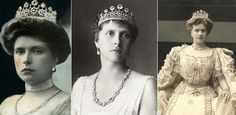 Princess Alice wearing the tiara diamonds from which were used to create Queen Elizabeth's engagement ring