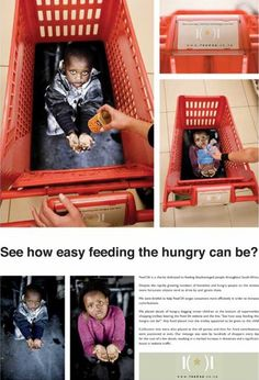 powerful guerrilla ad campaign: see how easy feeding the hungry can be?