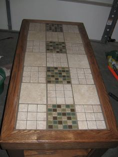 Made this table top to replace the broken glass one my projects pinterest the o 39 jays - Basics mosaic tiles patios ...