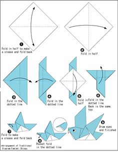 origami dove printable instructions