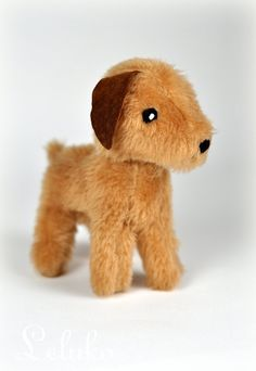 OOAK dogs foxterrier soft toy stuffed animal plush by LelukoToys