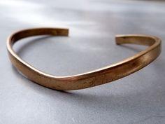Vintage Sergio Lub  California Chevron Copper Bracelet