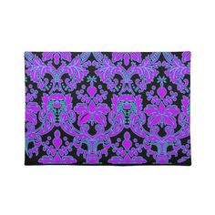 """Bright #Damask Place Mats $24 Placemats 20"""" x 14""""  Complete your dining table setting with custom place mats from Zazzle. These 100% woven cotton place mats are designed to complement any dining room theme. Vibrantly printed in full color      Size 20""""x14"""".     100% woven cotton.     Fabric is made from natural fibers, which may result in irregularities     Made in the USA.     Machine washable."""