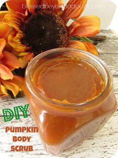 Make your own Pumpkin diy body scrub! It's wonderful!